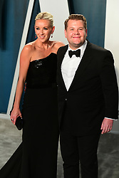 Julia Carey, James Corden attending the Vanity Fair Oscar Party held at the Wallis Annenberg Center for the Performing Arts in Beverly Hills, Los Angeles, California, USA.