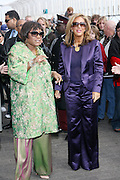 l to r: Patti Labelle and Denise Rich at The Empire State Building lighting ceremony, where the world's most famous office buiding will shine brightly in ths colors of Gabrielle's Angel Foundation for Cancer Research, red and purple, on the night of Gabrielle's Gala..The mission of Gabrielle's Angel Foundation is to fund basic and clinical medical research in both conventional and intergrativedisciplines which focus on prevention, treatment and quality of life issues of leukemia, lymphoma and related cancers.