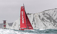 The Seven Star Triple Crown as part of Lendy Cowes week 2017. The Volvo Ocean Race VOR65 'Mapfre' shown here in action .The team skippered by Xabi Fernández raced around the island in 3 hours 13 minutes and 11 seconds setting a new world record, beating the previous record by almost seven minutes<br /> Credit Lloyd Images
