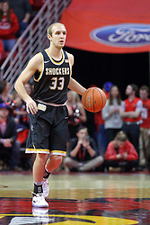 14 January 2017:  Conner Frankamp during an NCAA  MVC (Missouri Valley conference) mens basketball game between the Wichita State Shockers the Illinois State Redbirds in  Redbird Arena, Normal IL