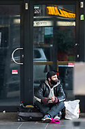 A man not wearing a mask is seen taking illicit drugs on Elizabeth Street in the CBD during COVID-19 in Melbourne, Australia. Hotel quarantine linked to 99% of Victoria's COVID-19 cases, inquiry told. This comes amid a further 222 new cases being discovered along with 17 deaths. Melbourne continues to reel under Stage 4 restrictions with speculation that it will be extended. (Photo by Dave Hewison/Speed Media)