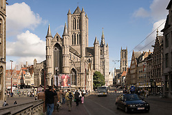 "The famous ""Three Towers of Ghent""  in Ghent, Belgium, on Friday, Sept. 12, 2008. (Photo © Jock Fistick)"