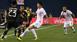 March 22, 2019 - Carlos Rodriguez (8) and jesus Gallardo (23) of Mexico battle for the ball against Erick Pulgar (13) and Arturo Vidal (8) of Chile during Mexico's 3-1 victory over Chile. (Credit Image: © Rishi Deka/ZUMA Wire)