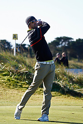 04.10.2012, Old Course, St. Andrews, SCO, European Golf Tour, Alfred Dunhill Links Championship, im Bild Olympic gold medal winning swimmer Michael Phelps // during the European Golf Tour, Alfred Dunhill Links Championship at the Old Course, St. Andrews, Scotland on 2012/10/04. EXPA Pictures © 2012, PhotoCredit: EXPA/ Mitchell Gunn