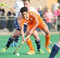ROTTERDAM -  Romeo Pace  (Neth.)   Practice Match Hockey : Netherlands Boys U18  v England U18 .  COPYRIGHT KOEN SUYK