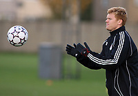 Photo: Paul Thomas.<br /> Liverpool Training session. UEFA Champions League. 21/11/2006.<br /> <br /> John Arne Riise.