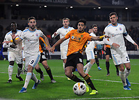 Football - 2019 / 2020 UEFA Europa League - Group K: Wolverhampton Wanderers vs. Slovan Bratislava<br /> <br /> Raul Jimenez of Wolves and Andraz Sporar of Slovan, at Molineux.<br /> <br /> COLORSPORT/ANDREW COWIE