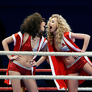 Istanbulls's show girls during their World Series of Boxing fight in at Ahmet Comert Arena in Istanbul, Turkey, Friday, February 25, 2010. Photo by TURKPIX