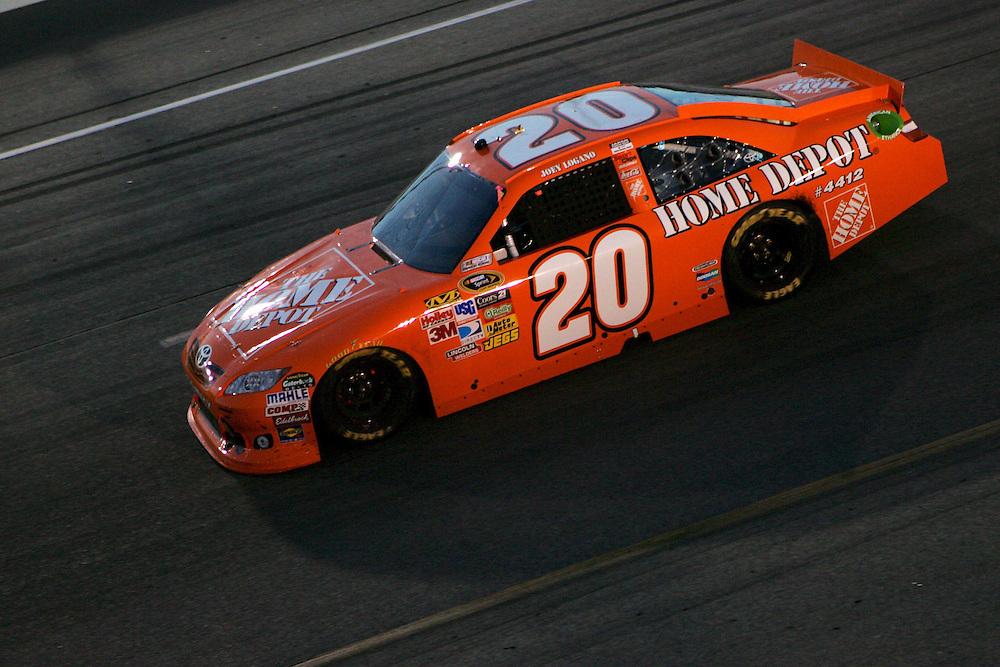 Apr 30, 2011; Richmond, VA, USA; NASCAR Sprint Cup Series driver Joey Logano during the Matthew and Daniel Hansen 400 at Richmond International Raceway. Mandatory Credit: Peter Casey-US PRESSWIRE