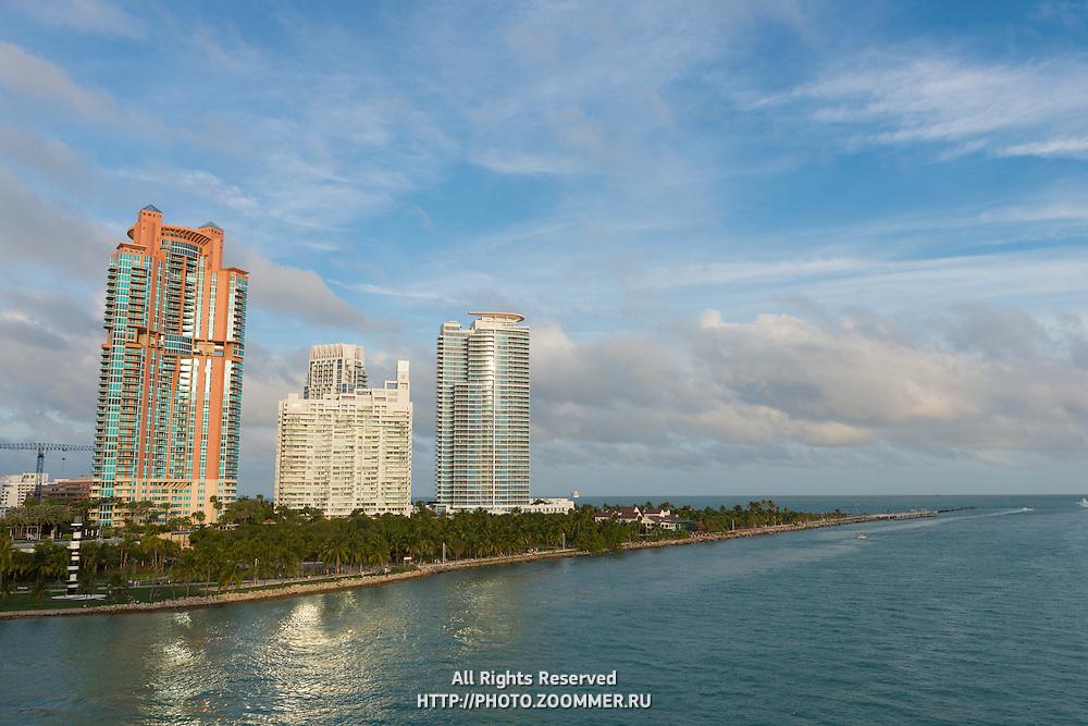 Skyscrapers in Miami South Beach, Florida