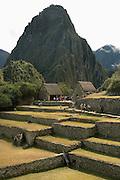 Overlooking Huayna Picchu at Machu Picchu  Peru