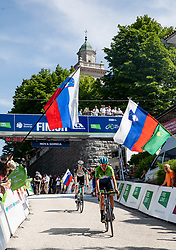 Finish line at Sveta Gora during the 4th Stage of 27th Tour of Slovenia 2021 cycling race between Ajdovscina and Nova Gorica (164,1 km), on June 12, 2021 in Slovenia. Photo by Vid Ponikvar / Sportida