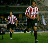 Photo: Steve Bond.<br /> Birmingham City v Sunderland. The FA Barclays Premiership. 15/08/2007. Michael Chopra celebrates