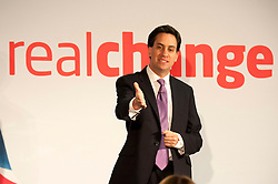 © Licensed to London News Pictures.16/06/2012. Birmingham, UK. Ed Miliband, Leader of the Labour Party, giving a key note speech to Labour`s National Policy Forum in Birmingham earlier today. Photo credit : Dave Warren/LNP