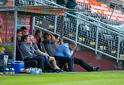 Inverness Caledonian Thistle's manager John Robertson. Dundee United 4 v 1 Inverness Caledonian Thistle, first Scottish Championship game of season 2019-2020, played 3/8/2019 at Tannadice Park, Dundee.