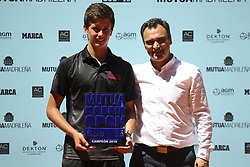 May 12, 2019 - Madrid, MADRID, SPAIN - Alejandro Manzanera (ESP) winner of the Mutua Madrid Open Sub 16, 2019 and Berasategui (ATP Masters 1000 and WTA Premier) tenis tournament at Caja Magica in Madrid, Spain, on May 11, 2019. (Credit Image: © AFP7 via ZUMA Wire)