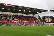 a General view of the stands with plenty of empty seats as the Stoke fans start to leave during the game with their team trailing 0-4. Premier league match, Stoke City v Tottenham Hotspur at the Bet365 Stadium in Stoke on Trent, Staffs on Saturday 10th September 2016.<br /> pic by Chris Stading, Andrew Orchard sports photography.