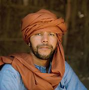 Portrait of a Tuareg desert guide, Sahara desert, Libya