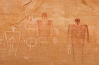 Big Man Anasazi Pictographs on canyon walls of Grand Gulch, Cedar Mesa Utah Bears Ears National Monument