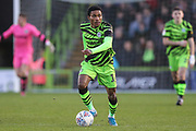 Forest Green Rovers Jevani Brown, on loan from Colchester United(16) runs forward during the EFL Sky Bet League 2 match between Forest Green Rovers and Salford City at the New Lawn, Forest Green, United Kingdom on 18 January 2020.