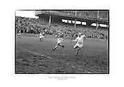 Christy Ring in full flight during the Railway Cup Hurling Final.<br />