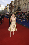 Edith Bowman. TV Bafta Awards. 21 April 2002. © Copyright Photograph by Dafydd Jones 66 Stockwell Park Rd. London SW9 0DA Tel 020 7733 0108 www.dafjones.com