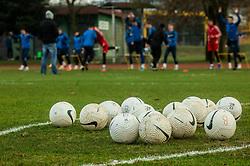 Balls during first practice session of NK Bravo before the spring season of Prva liga Telekom Slovenije 2020/21, on January 5, 2021 in Sports park ZAK, Ljubljana Slovenia. Photo by Vid Ponikvar / Sportida