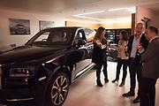 Hubert de Vinols hosts the launch of Tables D'Exception, Rolls Royce Showroom,  Berkeley Sq. London. 29 November 2018