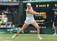 Tennis - 2019 Wimbledon Championships - Week One, Saturday (Day Six)<br /> <br /> Womens singles, 4th Round <br /> Ashleigh Barty (AUS) v Harriet Dart (GBR)<br /> <br /> Harriet Dart  on  Centre Court <br /> <br /> COLORSPORT/ANDREW COWIE