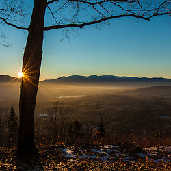 Sunrise from Mount Prospect in Weeks State Park in Lancaster, New Hampshire.