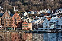 Historic Bergen from across the harbor. Seven of seven images taken with a Nikon 1 V2 camera and 10-30 mm lens(ISO 200, 30 mm, f/5.6, 1/1000 sec).