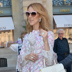 celien dion seen out and about in paris<br />