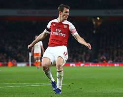 October 31, 2018 - London, England, United Kingdom - London, UK, 31 October, 2018.Stephan Lichtsteiner of Arsenal.During Carabao Cup fourth Round between Arsenal and Blackpool at Emirates stadium , London, England on 31 Oct 2018. (Credit Image: © Action Foto Sport/NurPhoto via ZUMA Press)