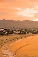 Sunrise over Santa Barbara.  View from Shoreline Park, Santa Barbara, California.