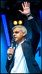 April 29, 2017 - London, London, United Kingdom - Image ©Licensed to i-Images Picture Agency. 29/04/2017. London, United Kingdom. Vaisakhi Festival - Sikh New Year 2017...The Mayor of London, Sadiq Khan speaks as London's Sikh community  flock to Trafalgar Square to celebrate the Vaisakhi Festival. Vaisakhi is the holiest day in the Sikh calendar and is celebrated by 20million people worldwide...Picture by Pete Maclaine / i-Images (Credit Image: © Pete Maclaine/i-Images via ZUMA Press)