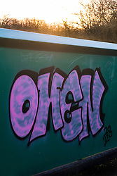 Graffiti on a railway bridge at the end of Butterthwaite Lane between Ecclesfield and Meadowhall, just off the Trans Pennine Trail <br /> <br /> www.pauldaviddrabble.co.uk<br /> All Images Copyright Paul David Drabble - <br /> All rights Reserved - <br /> Moral Rights Asserted -