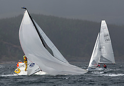 Day one of the Silvers Marine Scottish Series 2015, the largest sailing event in Scotland organised by the  Clyde Cruising Club<br /> Racing on Loch Fyne from 22rd-24th May 2015<br /> <br /> J70 in trouble on the One design fleet. <br /> <br /> <br /> Credit : Marc Turner / CCC<br /> For further information contact<br /> Iain Hurrel<br /> Mobile : 07766 116451<br /> Email : info@marine.blast.com<br /> <br /> For a full list of Silvers Marine Scottish Series sponsors visit http://www.clyde.org/scottish-series/sponsors/