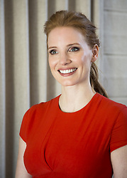 March 27, 2017 - Hollywood, California, U.S. - JESSICA CHASTAIN promotes 'The Zookeeper's Wife'. Jessica Michelle Chastain (born March 24, 1977) is an American actress and film producer. Born in a small town near Sonoma, California,[a] and raised in Sacramento, Chastain developed an interest in acting from a young age. In 1998, she made her stage debut as Shakespeare's Juliet. Chastain made her film debut in the drama Jolene (2008), and gained wide recognition in 2011 for starring roles in half a dozen films. Her performance as an aspiring socialite in The Help earned her an Oscar nomination for Best Supporting Actress. In 2012, she won a Golden Globe Award for playing a CIA agent in the thriller Zero Dark Thirty. Chastain made her Broadway debut in a revival of The Heiress in the same year. Her highest-grossing releases came with the science fiction films Interstellar (2014) and The Martian (2015), as she continued to draw praise for her performances in the dramas The Disappearance of Eleanor Rigby (2013) and A Most Violent Year (2014). Upcoming: Plus One (2018), The Division (2018), The Death and Life of John F. Donovan (2017) The Zookeeper's Wife (2017), Molly's Game (2017), Woman Walks Ahead (2017), Painkiller Jane (2017). (Credit Image: © Armando Gallo via ZUMA Studio)