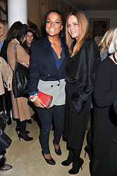 Left to right, MS.DYNAMITE and STELLA McCARTNEY at a party to celebrate the switching on of the Christmas Lights at the Stella McCartney store, Bruton Street, London on 29th November 2011.