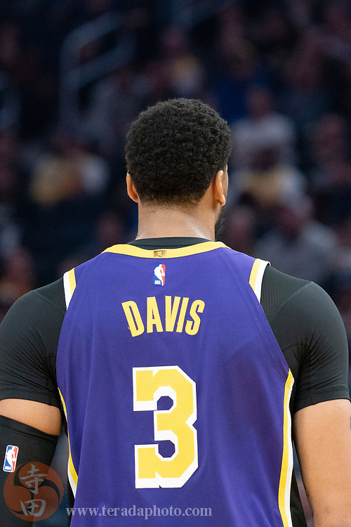 February 27, 2020; San Francisco, California, USA; Los Angeles Lakers forward Anthony Davis (3) during the second quarter against the Golden State Warriors at Chase Center.