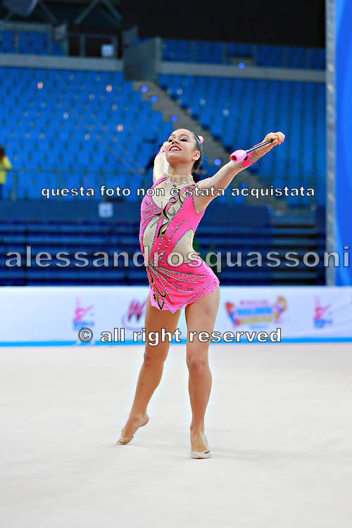 Castiglioni Lucia during qualifying at clubs in Pesaro World Cup 11 April 2015.<br /> Lucia is a San Marino athlete born on May 28,1998 in San Marino.