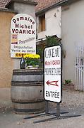 Winery shop. Domaine Michel Voarick. Aloxe-Corton village, Cote de Beaune, d'Or, Burgundy, France
