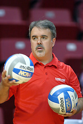07 September 2011: Assistant Coach Adriano de Souza during an NCAA volleyball match between the Leathernecks of Western Illinois  and the Illinois State Redbirds at Redbird Arena in Normal Illinois.
