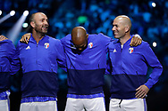 Christophe Dugarry (France 98), Thierry Henry (France 98), Zinedine Zidane (France 98) during the 2018 Friendly Game football match between France 98 and FIFA 98 on June 12, 2018 at U Arena in Nanterre near Paris, France - Photo Stephane Allaman / ProSportsImages / DPPI