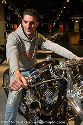 Rumble Racer built by Koh of Suicide Customs in Anjyo City, Japan took the highest honors as Grand Champion in the AMD World Championship of Custom Bike Building in the custom themed Hall 10 AMD World Championship of Custom Bike Building in the custom dedicated Hall 10 at the Intermot Motorcycle Trade Fair. Cologne, Germany. Sunday October 9, 2016. Photography ©2016 Michael Lichter.