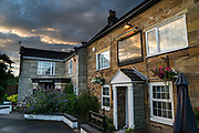 Dinner and lodging at Wainstones Hotel in Great Broughton, North Yorkshire county, England, United Kingdom, Europe. England Coast to Coast hike day 10 of 14.  [This image, commissioned by Wilderness Travel, is not available to any other agency providing group travel in the UK, but may otherwise be licensable from Tom Dempsey – please inquire at PhotoSeek.com.]