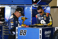 November 2, 2018 - Ft. Worth, Texas, United States of America - Alex Bowman (88) hangs out in the garage during practice for the AAA Texas 500 at Texas Motor Speedway in Ft. Worth, Texas. (Credit Image: © Justin R. Noe Asp Inc/ASP via ZUMA Wire)