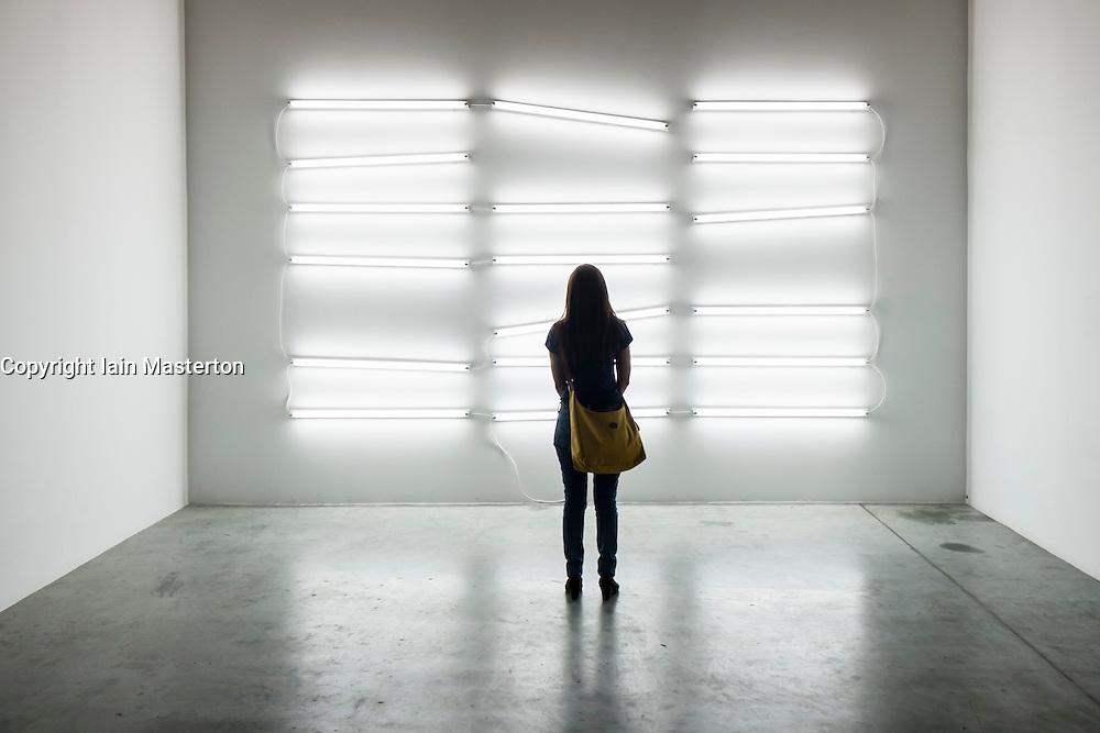 Grey Noise art gallery in warehouse in Alserkal Avenue arts district in Al Quoz in Dubai United Arab Emirates
