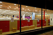 """Empty Shop window of Borders bookstore after closure showing empty book shelves, Borders signs and notices of cloure on teh windows. Borders bookstore in Oxford is one of 45 stores in the UK to close all its branches in the UK on 22 December. The chain went into administration earlier this month and had kept open all its stores while it attempted to find a buyer. Administrators MCR said all 45 Borders and Books Etc stores would close on 22 December. Borders has suffered from increased competition from online retailers and supermarkets. Borders employed 1,150 people in total. MCR has previously said Borders had """"severe cash flow pressures"""" and that several suppliers had stopped or reduced its credit, which made suppliers less willing to trade with the retailer and made it difficult for it to replenish its stock levels."""
