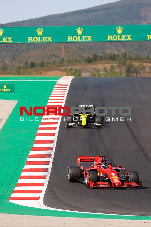 24.10.2020, Autódromo Internacional do Algarve, Portimao, FORMULA 1 HEINEKEN PORTUGUESE GRAND PRIX 2020,im Bild<br />Sebastian Vettel (GER#5), Scuderia Ferrari, Daniel Ricciardo (AUS#3), Renault DP World F1 Team<br /> <br /> Foto © nordphoto / Bratic